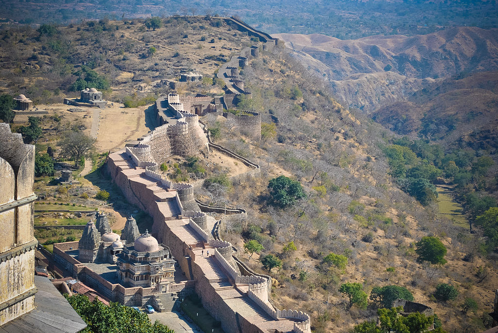 The boundary walls of Kumbhalgarh fort,Udaipur