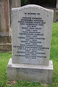 The grave of D'Arcy Wentworth Thompson, Dean Cemetery.jpg