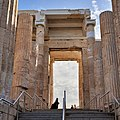 The two Ionic capitals of the Propylaea on March 5, 2020.jpg