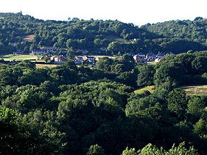 Cymau - Image: The village of Cymau, Flintshire geograph.org.uk 208103