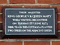 Their majesties King George & Queen Mary when visiting Becontree on Tuesday 12th June 1923 took tea in this cottage & planted two trees on the adjacent green.jpg