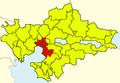 Thessaloniki Urban Area, Greece - political map - blank.png