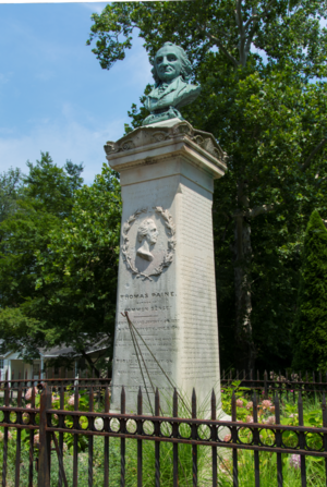 Thomas Paine Cottage - The Thomas Paine Monument on North Avenue in New Rochelle