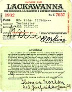 Delaware, Lackawanna and Western Railroad employe pass, 1932