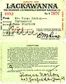 Thomas Patrick Norton (1891-1968) Delaware, Lackawanna and Western Railroad employee pass, 1932.jpg