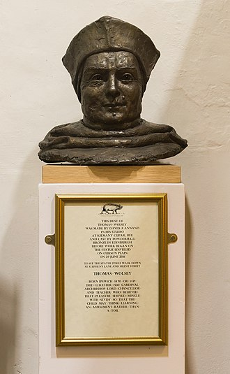 Thomas Wolsey - Bust of Cardinal Thomas Wolsey kept at St Stephen Church - Ipswich