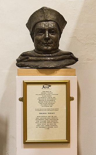 Thomas Wolsey - Bust of Cardinal Thomas Wolsey kept at St Stephen Church - Ipswich