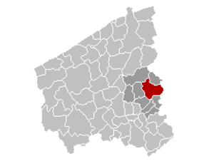 Tielt - Image: Tielt Locatie