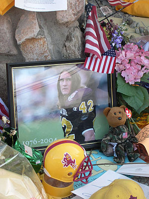 English: This memorial was set up by fans of P...