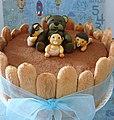 Tiramisu cake with bear (3792059297).jpg