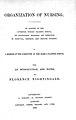 Title page of Organization of Nursing Wellcome L0000039EB.jpg