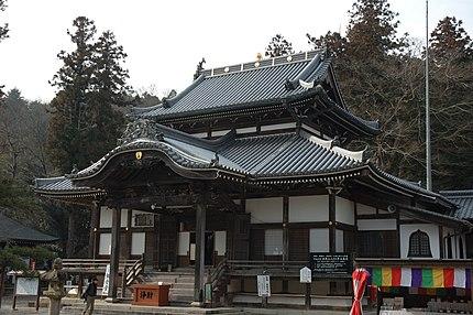 誕生寺御影堂(本堂、日本国指定の重要文化財)元禄8年建立