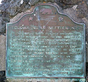 Castle Rock National Wildlife Refuge -  Tolowa Indian Settlements are California Registered Historical Landmark No. 649