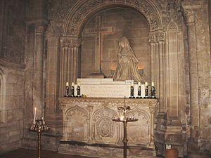 Marie-Madeleine Postel - Postel's tomb in St-Sauveur-le-Vicomte.