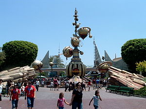 Tomorrowland - Disneyland's Tomorrowland entrance 2006-2009.