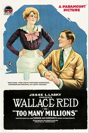 Too Many Millions (1918 film) - Theatrical release poster