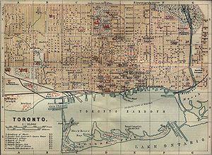Toronto - Map of Toronto, 1894