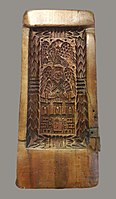 Toruń Gingerbread baking mould with city's coat of arms.jpg