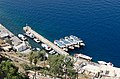 Tour boats in Mesa Gialos harbour - Fira - Santorini - Greece - 01.jpg