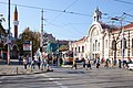 Trams in Sofia in front of Central Market Hall 2012 PD 026.jpg