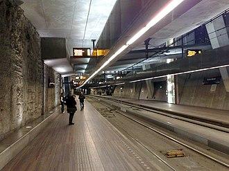 Grote Markt RandstadRail station - The tram tunnel