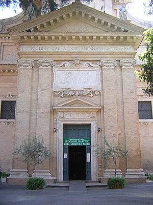 San Paolo alle Tre Fontane - Facade.