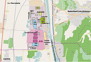 Tricastin Nuclear Power Plant - Overview of the facilities on the Tricastin Nuclear Site.