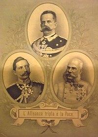 Triple alliance Umberto I Guglielmo II Francesco Giuseppe.JPG