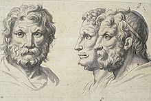 Three lion-like heads, 1671, pen and wash on squared paper. (Source: Wikimedia)