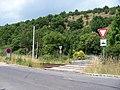 Trojská 76a, přejezd, přírodní památka Trojská.jpg