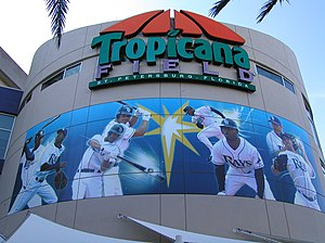 Tropicana Field - Entrance rotunda façade as it appeared in 2008
