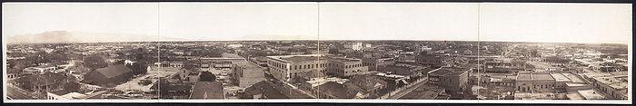 Vista panorámica de la ciudad de Tucson en el año 1909.