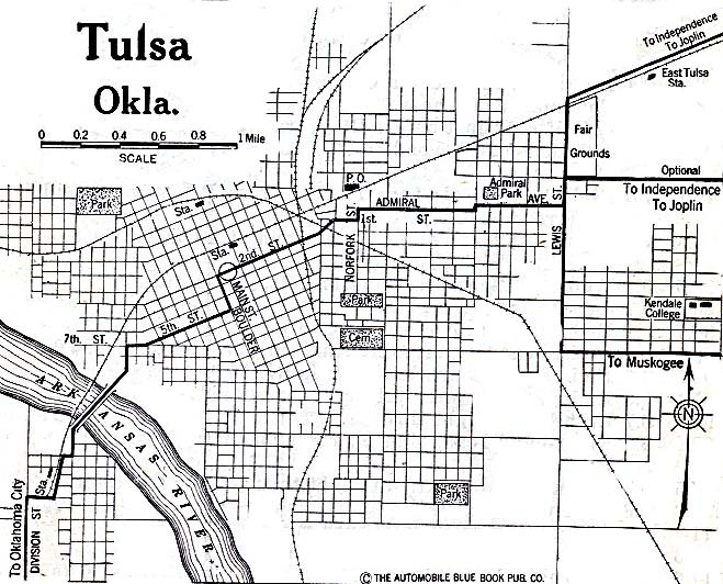 Tulsa OK Map 1920