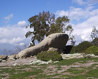 "Turtle Rock, Irvine, California - This is the outcropping often referred to as ""Turtle Rock"". It is held sacred by the Gabrieleño Native Americans, and is located in the northern part of the Turtle Rock neighborhood, near Concordia University, Irvine."