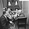Tweede Kamer, vlnr drie Commissarissen der Koningin Hedzer Rijpstra (Friesla, Bestanddeelnr 926-6415.jpg