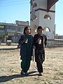 "Two Hazareh girls near pol sokhteh ""Burned bridge "" in emmam hossein festival - panoramio.jpg"