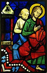 Two Seated Apostles from a Pentecost Scene