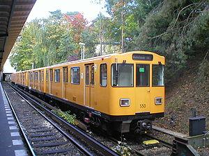 Berlin U-Bahn rolling stock - A A3L92 type train