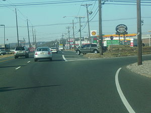 U.S. Route 22 in New Jersey - US 22 westbound at Springfield Road in Union