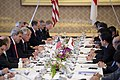 U.S. Secretary of State John Kerry, third from left, and U.S. Secretary of Defense Chuck Hagel, fourth from left, meet with Japanese Minister of Foreign Affairs Fumio Kishida and Minister of Defense Itsunori 131003-D-BW835-579.jpg