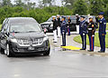 U.S. Service members salute retired U.S. Air Force Col. George Day's hearse as it arrives at Naval Air Station Pensacola, Fla., Aug. 1, 2013 130801-F-HG908-102.jpg