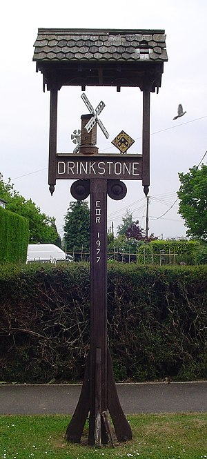 Drinkstone - Signpost in Drinkstone