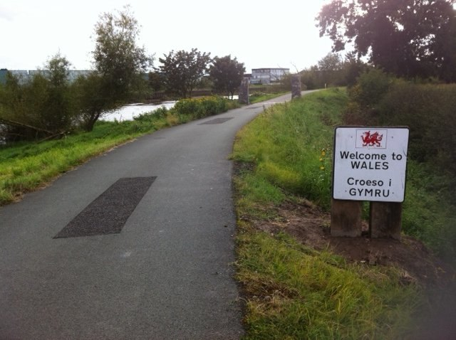 UK National Cycle Route 5 at the Wales England border