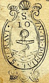 Rhode Island dettaglio tenuta coloniale (1738)