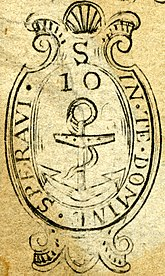 Rhode Island sömürge mühür detay (1738)