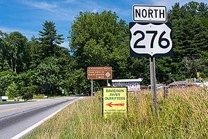 U.S. Route 276 - Northbound US 276, in Brevard
