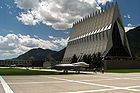 The Cadet Chapel at the United States Air Force Academy near Colorado Springs.