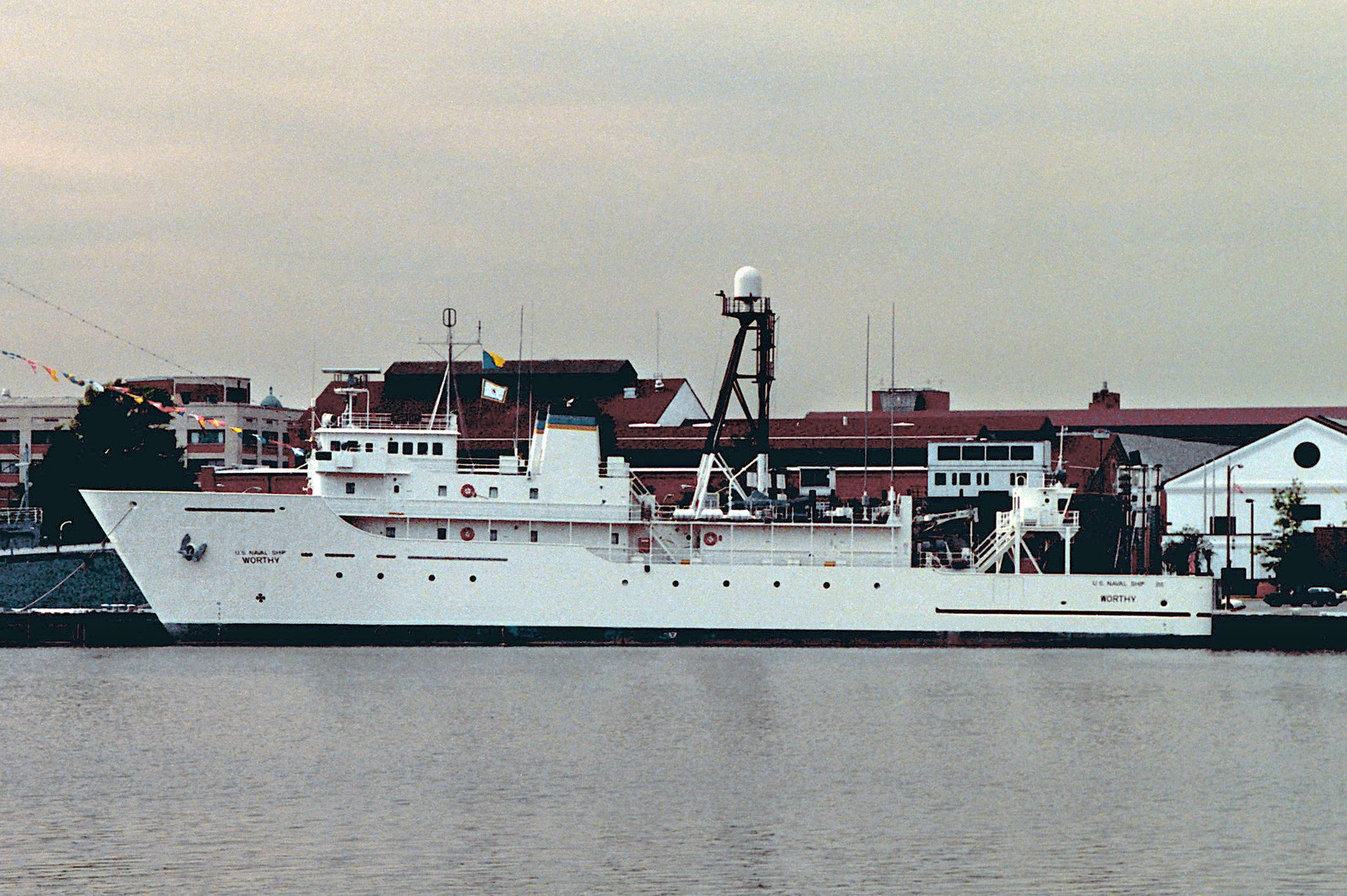 USNS Worthy  T AGOS 14 on general electric instrumentation
