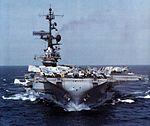 USS Coral Sea (CV-43) bow shot c1982.jpg