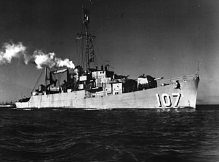 USS <i>Earle B. Hall</i> (APD-107) United States Navy high-speed transport